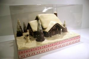 Chocolate Log Cabin
